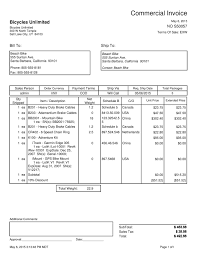 Commercial Invoice Commercial Invoice Reports 1