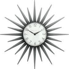 starburst sunburst wall clock  ebay