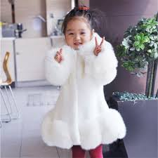 New 2018 Baby Girls Long Sleeve Winter Wedding Faux Fur Brand Coat for Formal Soft Party Kids Outwear-in Jackets \u0026 Coats from Mother