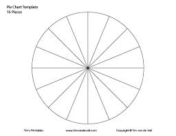 12 Piece Pie Chart Template Bedowntowndaytona Com