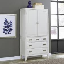 white armoire wardrobe bedroom furniture. Newport White Armoire Wardrobe Bedroom Furniture The Home Depot