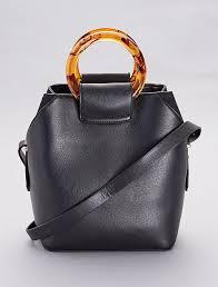 faux leather bag black women