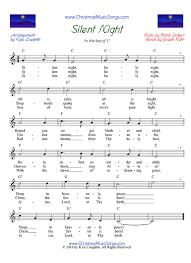 sheet music silent night silent night free sheet music