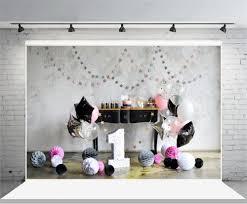 <b>Laeacco</b> Cute Star Balloons <b>Garland</b> Cake Table 1st Birthday Baby ...