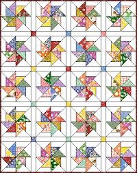 Love this quilt block pattern. Pinwheel #8 at Quilter's Cache ... & Pinwheel # 8 -free pattern from Quilters Cache. Nice filler block to tie  into large floral print. Adamdwight.com