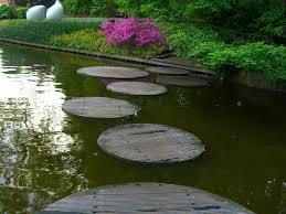 garden stepping stones for backyard garden decorating ideas round garden stepping stones in lake with