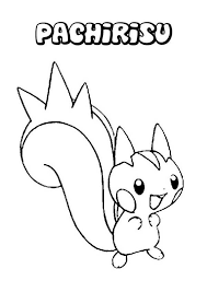 Pachirisu Coloring Pages Color Bros