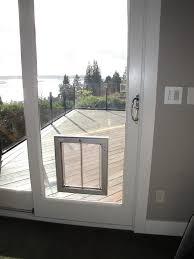 patio dog door sliding glass door with dog door built in storm door with dog door