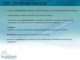 omega science and spirituality club heartfulness club for  4 oss the modus operandi