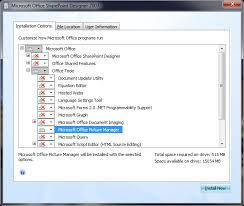 microsoft office picture manager in pack