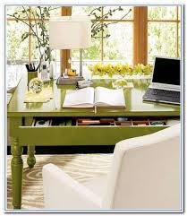 pottery barn desks green color