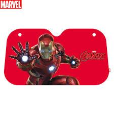 Tinplanet Marvel Avengers Car Windshield Sunshade Accordion Bubble Front Auto Car Windshield Sun Shade Folding Sun Visor Iron Man
