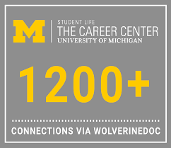 pre health resources career center graphic showing that there over 1 200 alumni in the medical field who could potentially be contacted