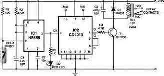 magnetic proximity sensors electronics circuits hobby magnetic proximity sensors here is an interesting circuit for