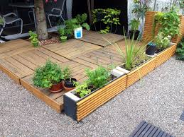 garden furniture patio uamp:  palletscom terrace planters made from pallets