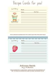 Recipe Cards Print Free Printable Recipe Cards By Julianna Smith Crafts Recipe