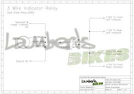 indicator relay lamberts bikes 3 Wire Flasher Wiring Diagram 3 wire ssr flasher unit wiring diagram Code 3 710 Flasher Diagram