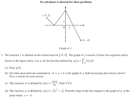 Click on the solution link for each problem to go to the page containing the solution. Ap Calculus Ab 2014 Exam Solutions Questions Videos