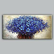 canvas wall art cheap blue knife flowers floral oil painting with stretched frame ready to hang canvas wall art cheap  on cheap wall art canvas australia with canvas wall art cheap awesome ideas australia ismts