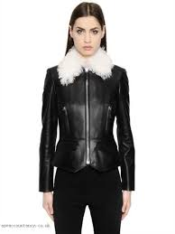 women leather jackets belstaff and liv tyler new autumn and winter 2017 nappa leather jacket w shearling collar 63138