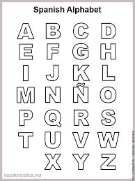 contour spanish alphabet letters list