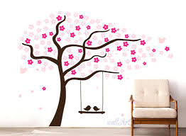 cherry blossom branch wall decal tree wall decals nursery cherry tree  stencils pink wall zoom wall . cherry blossom branch wall decal ...
