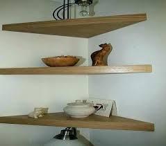large floating corner shelf large shelf oak floating corner shelves chunky wooden rustic solid wood home