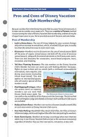 Disney Concierge Collection Point Chart Passporters Disney Vacation Club Guide Book Information