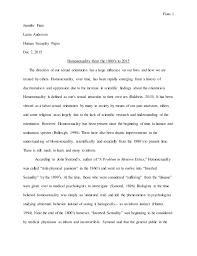 homosexuality s  fiato 1 jennifer fiato laura anderson human sexuality paper dec 2 2015 homosexuality from the