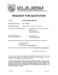 request for quotation - City of Suffolk