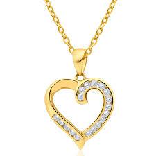 australian diamond 9ct yellow gold diamond heart pendant 25252867 jewellery shiels jewellers