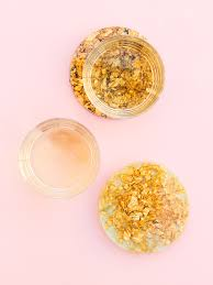 add some sparkle to your coffee table by making your own anthropologie inspired gold leaf resin