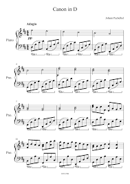 This is a tutorial for pachelbel's canon in d, which i arranged for easy piano. Canon In D Sheet Music For Piano Solo Musescore Com
