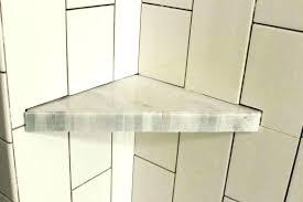 glass corner showers marvelous shower shelf marble shelves image with rail til