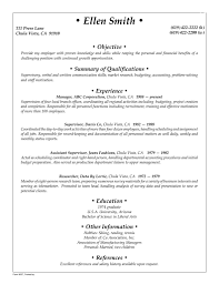 Generic Resume Objective Sample Template Stibera Resumes Statement