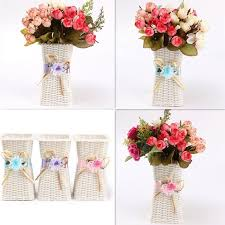 Small Picture Wholesale Europe Rattan Flower Vase Storage Square Basket