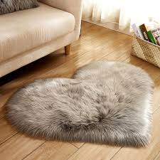 Faux sheepskin rugs Rug Grey Wool Imitation Sheepskin Rugs Faux Fur Non Slip Bedroom Shaggy Carpet Living Room Mats Tapis Round Rug Alfombras Q3 Carpet Online Carpets For Less From Dhgate Wool Imitation Sheepskin Rugs Faux Fur Non Slip Bedroom Shaggy