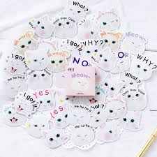 <b>45pcs</b>/набор Каваи Cat этикетки наклейки декоративные ...