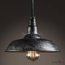 mottled black single light barn style industrial indoor led pendant lamp