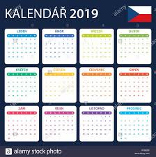 Calendar Scheduler Template Czech Calendar For 2019 Scheduler Agenda Or Diary Template