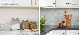 standard vs full kitchen backsplash