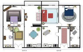 furniture floor plans. Duplex Floor Plan Furniture Plans A