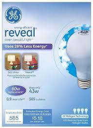 ge lighting 67770 reveal 43 watt 565 lumen a19 light bulb with um base 4 pack com