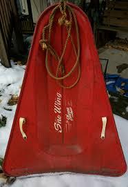 cabin decor lodge sled: vintage s blazon sno wing snow sled stamped steel usa cabin lodge decor ski