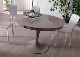 ozzio eclipse round extending dining table detailed images