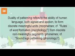 Duality Of Patterning Amazing What Is Duality Of Language YouTube