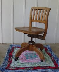 zoom antique oak office chair