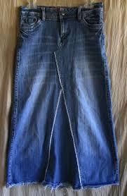 Mudd Maxi Jean Skirt Size 5 Jrs Flare Stretch Denim Juniors