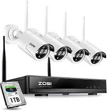 ZOSI <b>Wireless CCTV Camera Systems</b> 4CH <b>1080P Wireless</b> ...