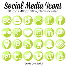Two Tone Icons Social Media Icons Round With Two Tone Green Design Instagram